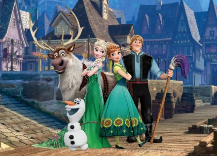 Disney Frozen characters mural wallpaper 160x110cm